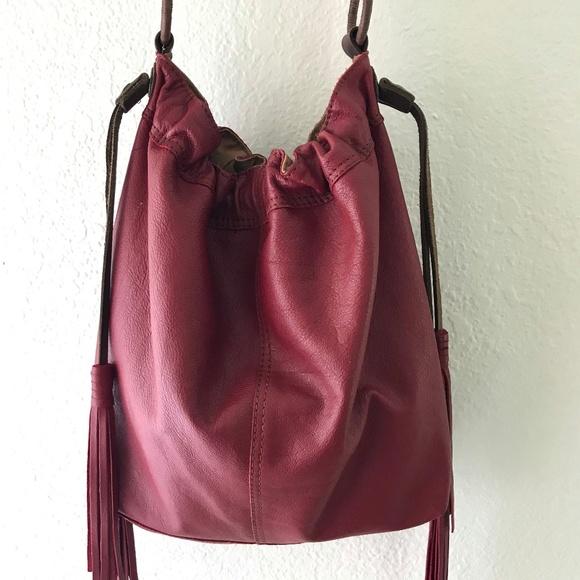 Lucky Brand Handbags - LUCKY BRAND Slouchy Hobo Leather Bag w Tassels XL 25e813c285